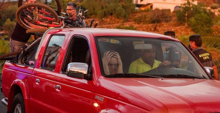 Casi 200 vecinos han tenido que ser desalojados de Tacande