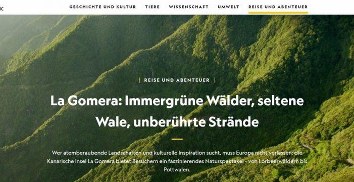 """National Geographic señala a La Gomera como uno de los lugares que """"hay que ver al menos una vez en la vida"""""""