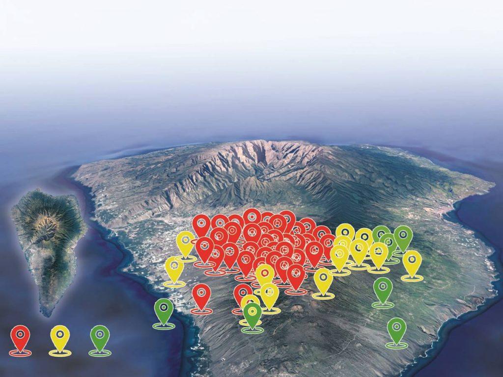 Semáforo amarillo en La Palma por actividad sísmica en Cumbre Vieja