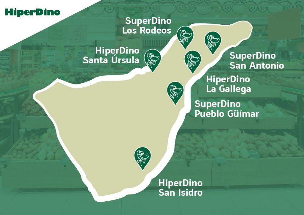 Tiendas de Hiperdino en Tenerife con nueva imagen