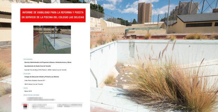 Santa Cruz rechaza recuperar la piscina en ruinas de Ofra debido al coste que tendría mantenerla