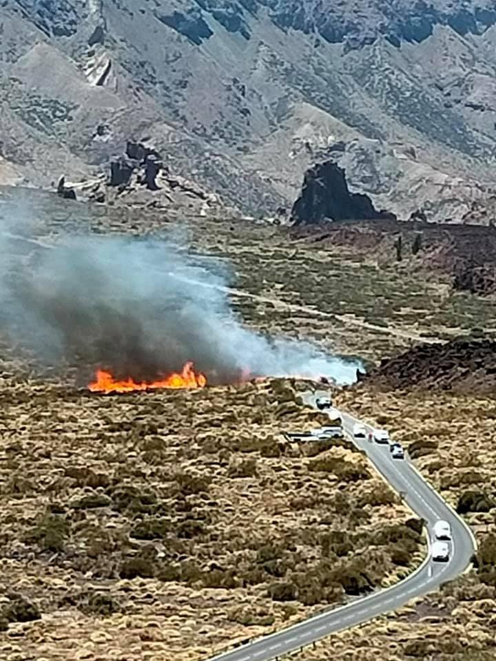 Conato de incendio en el Parque Nacional del Teide