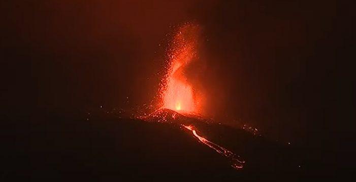 Aumenta la intensidad explosiva del volcán de La Palma