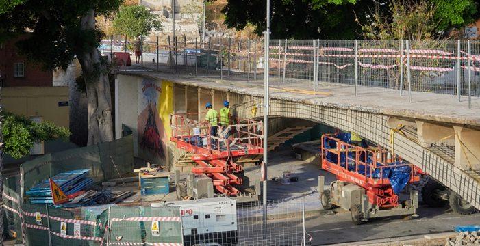 Refuerzan la estructura del puente de San Andrés con hormigón