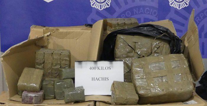 Detenido en La Laguna mientras transportaba 400 kilos de hachís