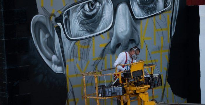 San Andrés recuerda con un mural a 'Andresito', su vecino más especial