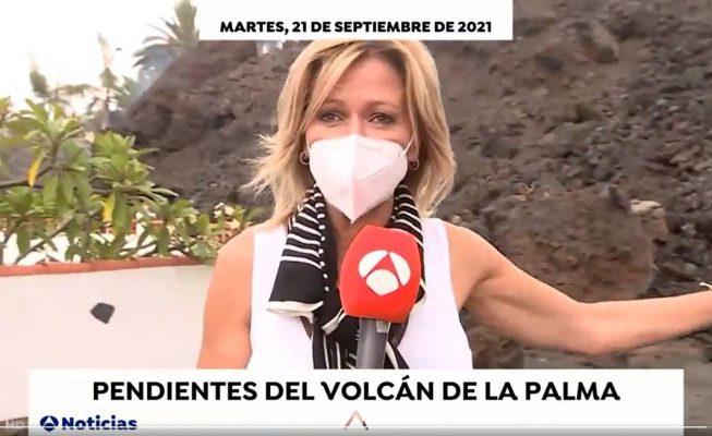 Críticas a Griso y Piqueras por aproximarse a la lava en La Palma