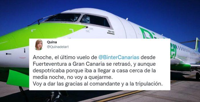 """""""Nos olvidamos de las turbulencias"""": la aplaudida actitud de un piloto de Binter"""