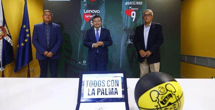 El Lenovo Tenerife presenta sus acciones solidarias por La Palma