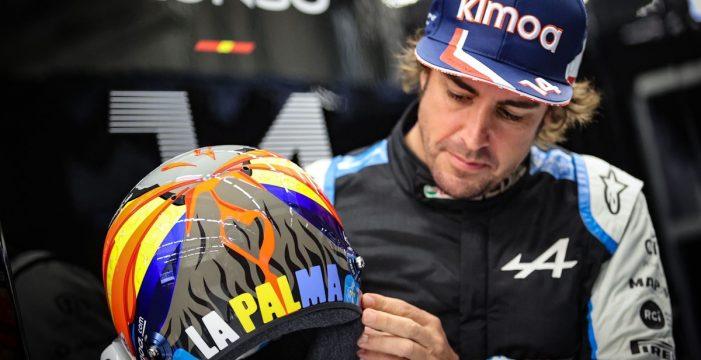 Fernando Alonso homenajeará a            La Palma con un casco especial