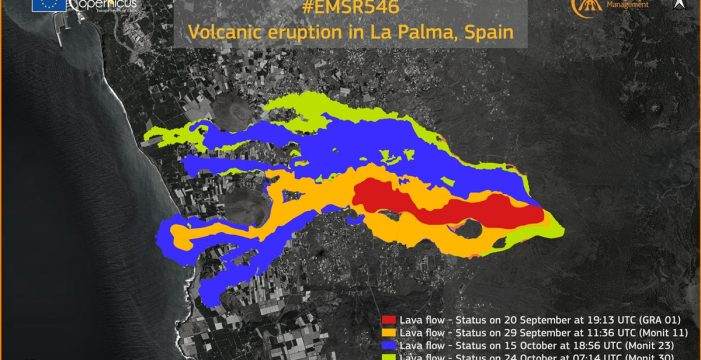 La lava ocupa una superficie de 906,3 hectáreas
