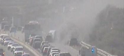 Incendio en un coche en plena TF-1