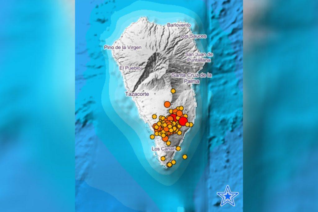 La Palma registra una veintena de sismos desde la pasada medianoche, el mayor de magnitud 3,8 en Mazo
