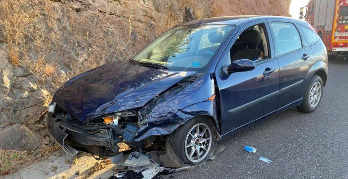 Aparatoso accidente en Los Campitos