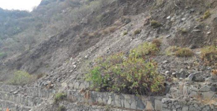 Reparan de urgencia un muro de contención en la Punta de Teno
