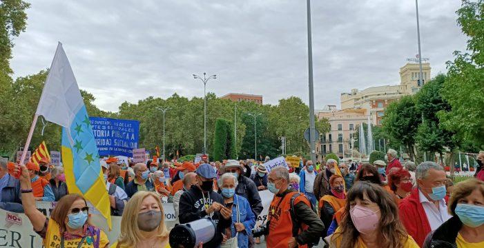 Pensionistas canarios vuelven a Madrid para defender el sistema público