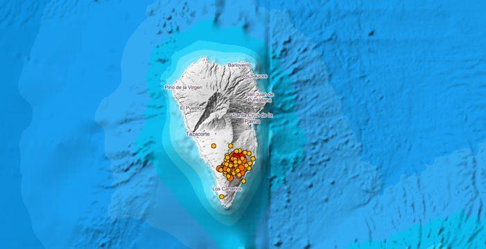 Unos 90 nuevos temblores sísmicos vuelven a sacudir la Isla Bonita