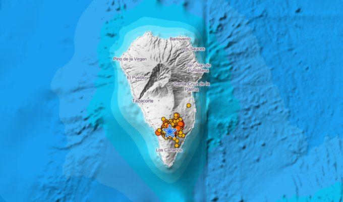 Un nuevo terremoto de 4.8 se deja sentir en toda La Palma