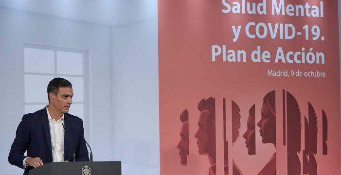 Sánchez anuncia un plan de salud mental y contra el suicidio dotado con 100 millones